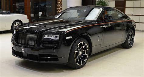 rolls royce wraith black badge    orangy interior