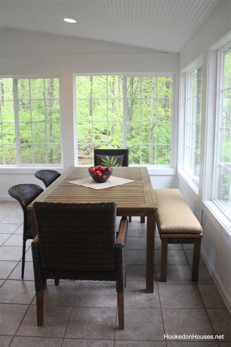 sunroom update my new table and chairs hooked on houses