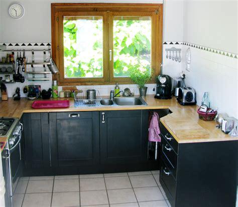 meuble de cuisine repeint avant après une pincée de caractère dans ma cuisine