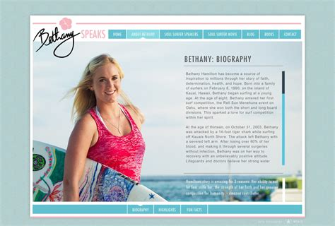 Bethany Hamilton Official Speaking Website About