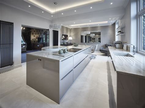 Corian Finish by Siematic Classic Sc40 Kitchen In Agate Grey Gloss Finish