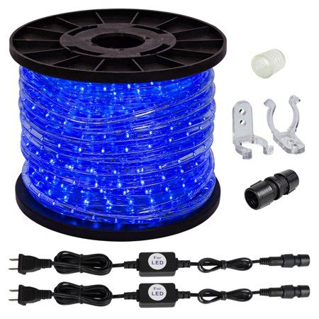 Rope Lights At Walmart by 150ft Blue 2 Wire Led Rope Lights Home In Outdoor