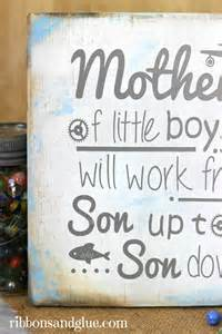 Mother's of Little Boys Wood Sign