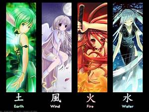 The 4 Elements | We Heart It | anime