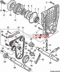 55557231  Saab Front Crankshaft Seal