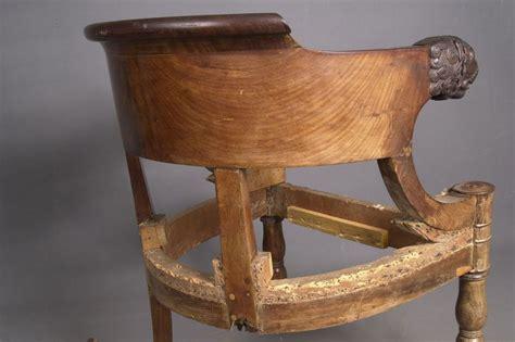 bureau empire restauration fauteuil ancien de bureau empire en acajou