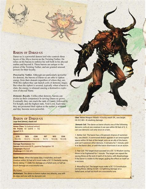 Dnd 5e damaging cantrips table. D&D 5e Magic Items and Custom Monster | Demonic Encounters ...