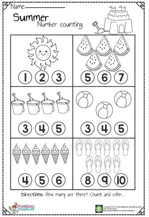 counting worksheets preschool math worksheets