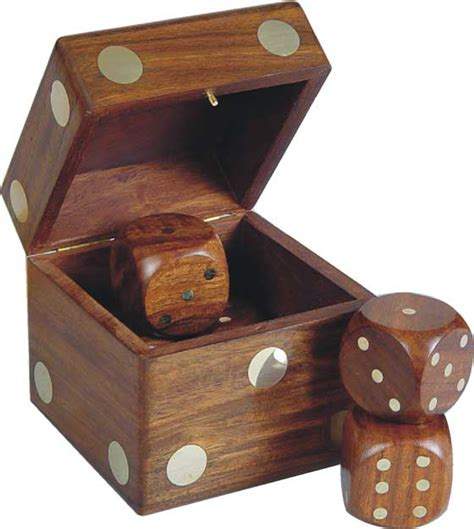 pleasant times industries wooden dice box dices