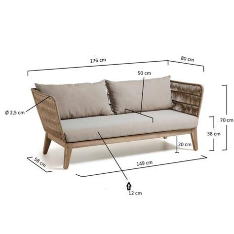 cuscini per panche legno alana divano 3 posti con struttura in legno massiccio