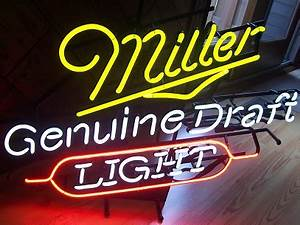 Miller Genuine Draft Light Neon Sign