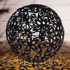 Solarleuchte Garten Kugel : solarleuchte blumenkugel 40 cm durchm metall bronze ~ Articles-book.com Haus und Dekorationen