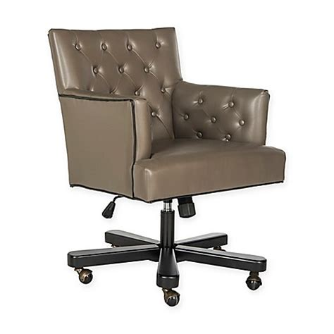 bed bath and beyond desk chair safavieh chambers desk chair in brown bed bath beyond