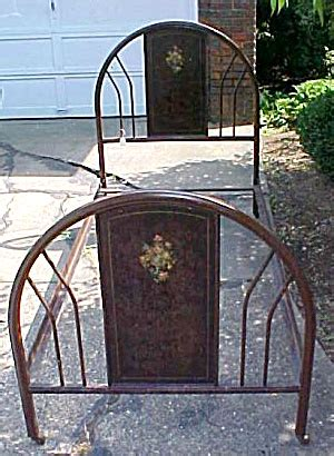 antique metal bed frame twin size furniture