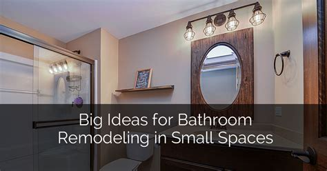 Big Ideas for Bathroom Remodeling in Small Spaces   Home