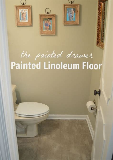 Painted Linoleum Floor   Bathroom   Pinterest   Verf