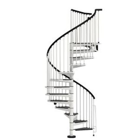 arke civik 55 in white spiral staircase kit k03004 the