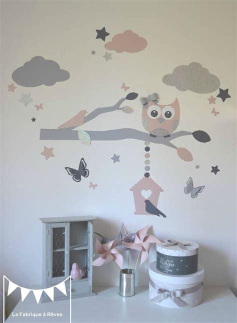 chambre fille etoile stickers décoration chambre enfant fille bébé branche cage