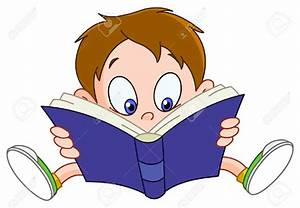 Cartoon Boy Reading Clipart