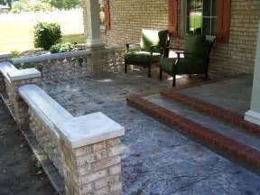 Arizona Tile Slab Yard by Concrete Front Porch Makeover Baluster Amp Floor Designs