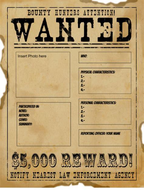 wanted poster templates word templates docs