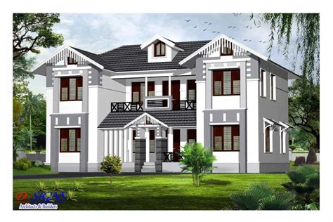 Good Kerala Style Exterior House Elevation At 2385 Sqft