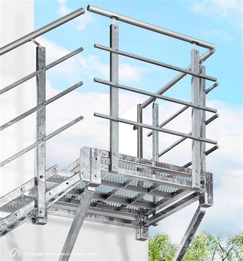 Außentreppe Aus Stahl by Au 223 Entreppe Aus Stahl Verzinkt Mit Podest Hier Kaufen