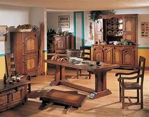 salle a manger campagnarde chene massif meubles notre With meuble salle À manger avec salle a manger en chene massif