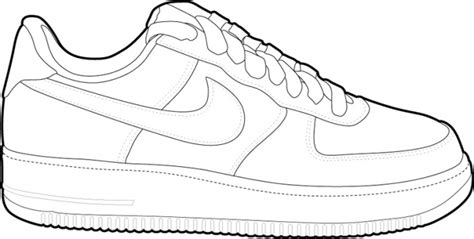 Coloring Nike Air 1 by Nike Air 1 Drawing Sketch Coloring Page