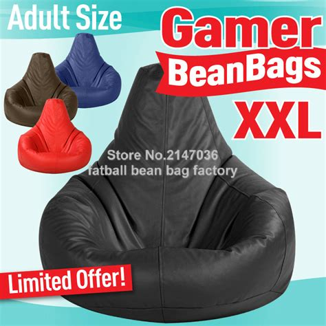 gamer bean bag adults size big beanbag sofa chair