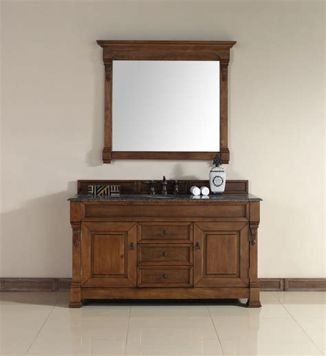 single sink bathroom vanity  country oak