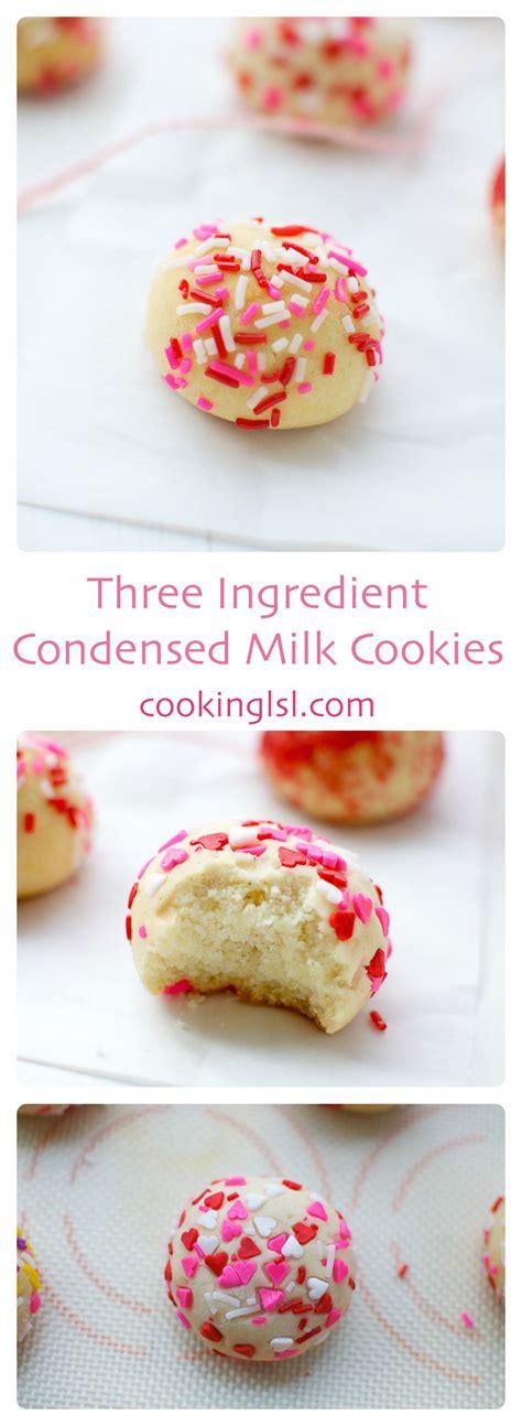 Condensedmilkcookiesthreeingredient