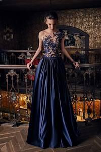 robe de soiree de luxe bleu nuit saphir oksana mukha With robe de soirée de luxe