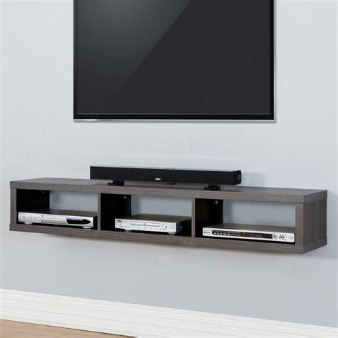 Tv Regal Wand by Martin Furniture Shallow Wall Mounted Tv Shelf Small