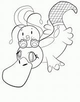 Platypus Coloring Easter Popular sketch template