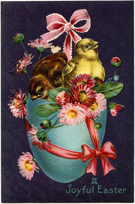 vintage easter stock image super pretty  graphics