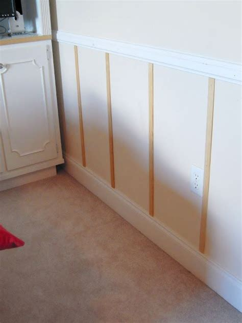 Cheap And Easy Wainscoting  Projects  Pinterest Easy