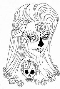 Sugar Skull Coloring Pages Coloring Pages For Adults