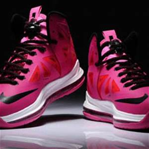 Women Pink and Black Nike Lebron 10 from airgriffeystores