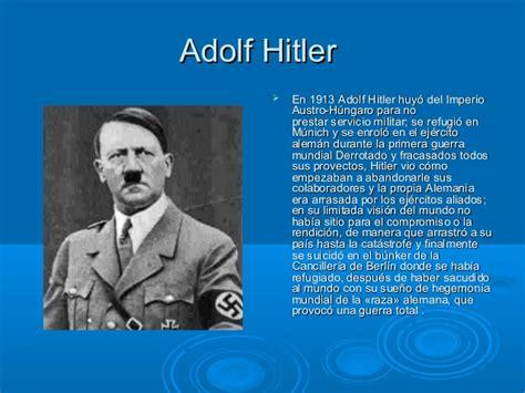 Adolf Resumen Vida lideres negativos y positivos mundo