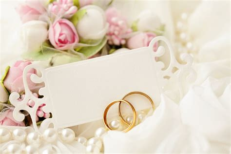 holiday wedding wedding rings blue lace card hd wallpaper