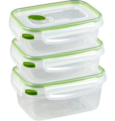 Food Storage Containers with Lids (Set of 20) in Plastic