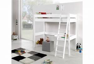 Hochbett 90x200 Weiß : relita hochbett renate 90x200 lackiert wei ~ Indierocktalk.com Haus und Dekorationen