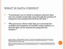 Data coding and screening online presentation
