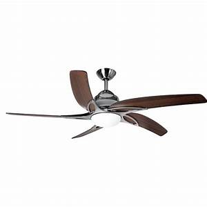 Fantasia viper 44 stainless steel with dark oak blades ceiling fan fantasia viper 44 inch remote control stainless steel ceiling fan with dark oak blades and led mozeypictures Choice Image