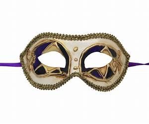 Black, Purple and Gold Venetian Mask