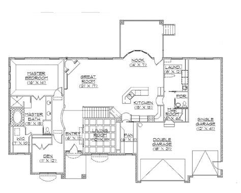 floor plans rambler rambler house plans traditional rambler home plan hwbdo75132 traditional house plan