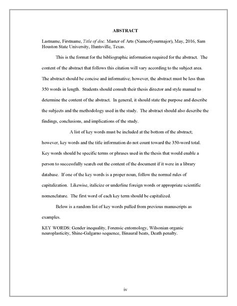 title page abstract template abstract thesis and dissertation research guides at