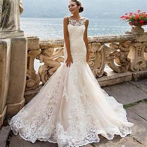 00226 Sexy Cap sleeve Long Lace wedding Dresses 2017 Sexy ...