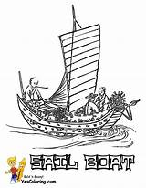 Boat Coloring Pages Sail Sailing Asian Yescoloring Boats Ship Sheet Superb sketch template